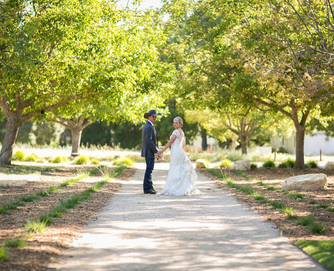 Megan and Teddy's Halter Ranch wedding reins supreme